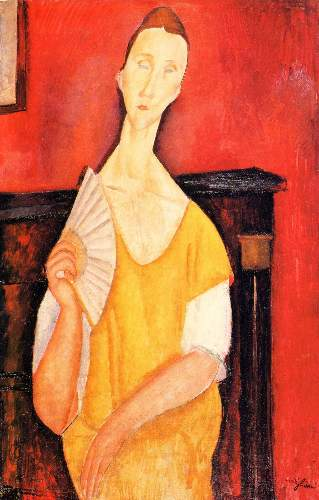 Modigliani - Portrait of Lunia Czechowska with fan [2]
